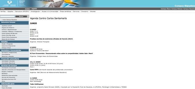 pantallazo agenda Santamaría