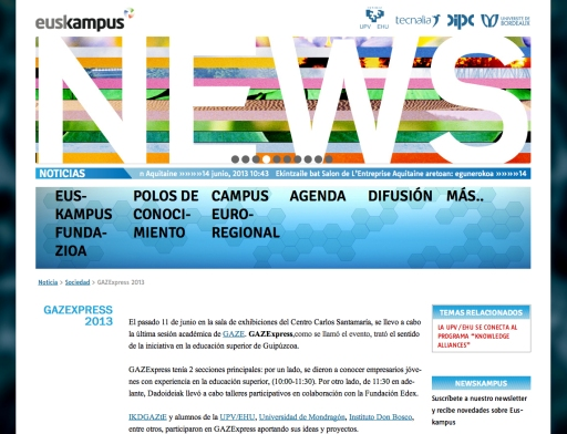 pantallazo Euskampus