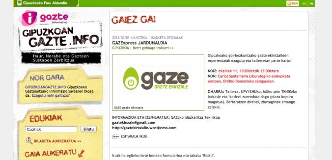 pantallazo gazte info