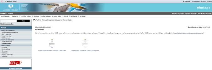 pantallazo programa GAZExpress