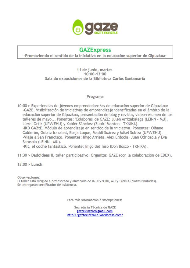 GAZExpress programa
